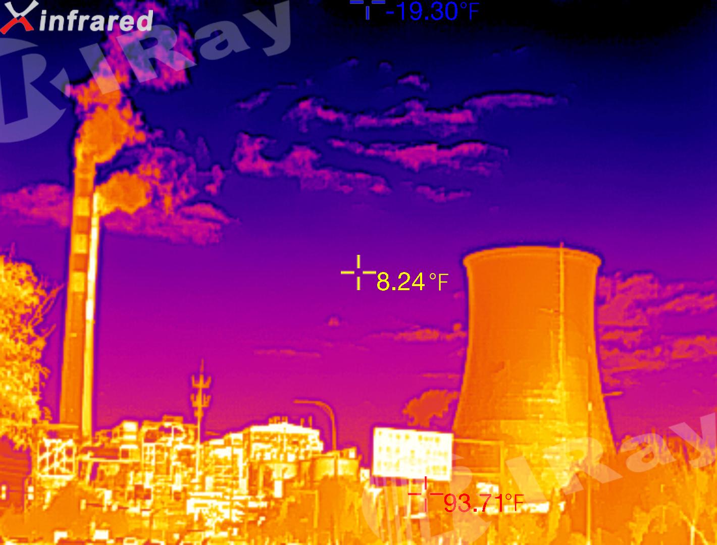 艾睿光电红外热成像仪应用于测温实拍